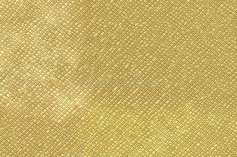 Texture abstraite d'une surface de couleur de jaune-or photographie stock