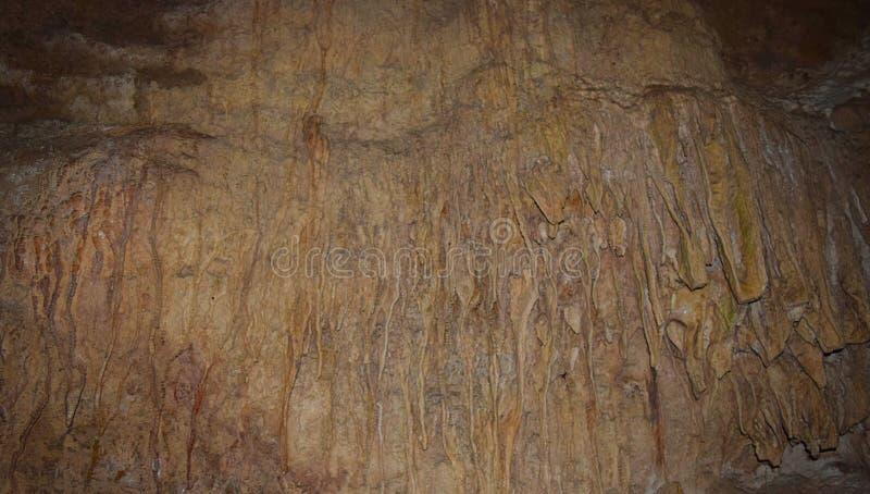 Texture abstraite dans les roches sédimentaires en cavernes de chaux - île de Baratang, Andaman Nicobar, Inde images stock