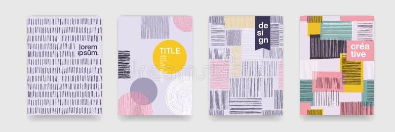 Texture abstraite de bande dessinée de modèle de couleur d'amusement pour la tendance géométrique de vecteur de fond de griffonna illustration stock
