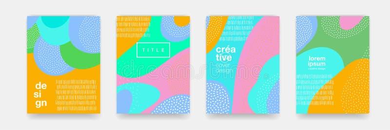 Texture abstraite de bande dessinée de modèle de point de couleur d'amusement pour le fond géométrique de griffonnage Dirigez la  illustration stock