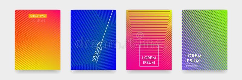 Texture abstraite de modèle de couleur de gradient pour l'ensemble de vecteur de calibre de couverture de livre illustration stock