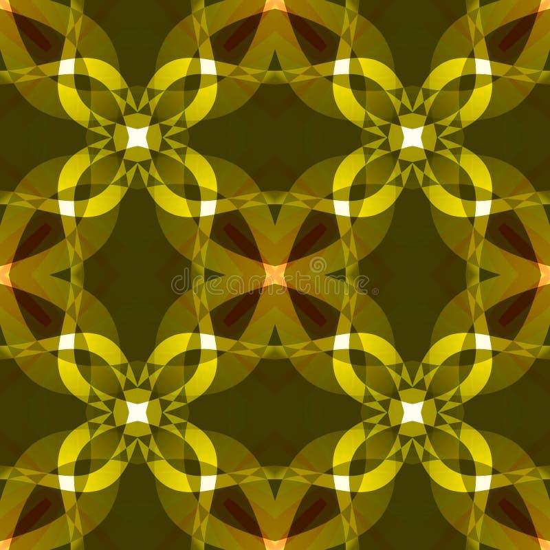 Texture abstraite moderne jaune foncée Modèle d'impression de textile Illustration détaillée de fond Tuile sans couture DES à la  illustration libre de droits