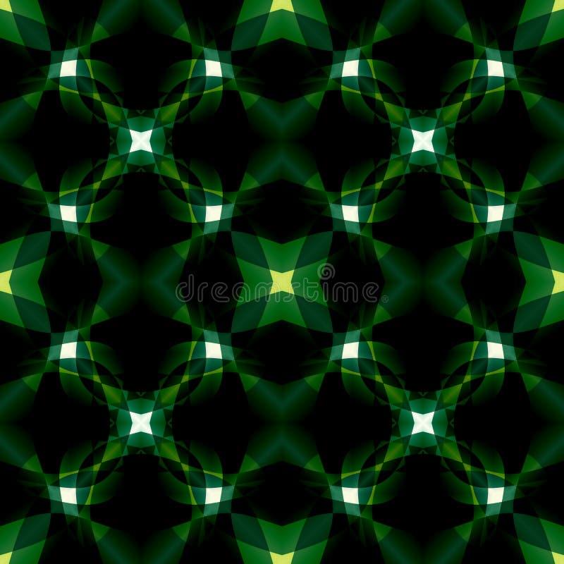 Texture abstraite moderne verte noire Illustration foncée de fond Modèle d'impression de textile Tuile sans couture Conception à  illustration libre de droits