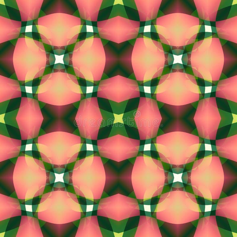 Texture abstraite moderne verte rose Illustration détaillée de fond Tuile sans couture Échantillon à la maison de conception de t illustration libre de droits
