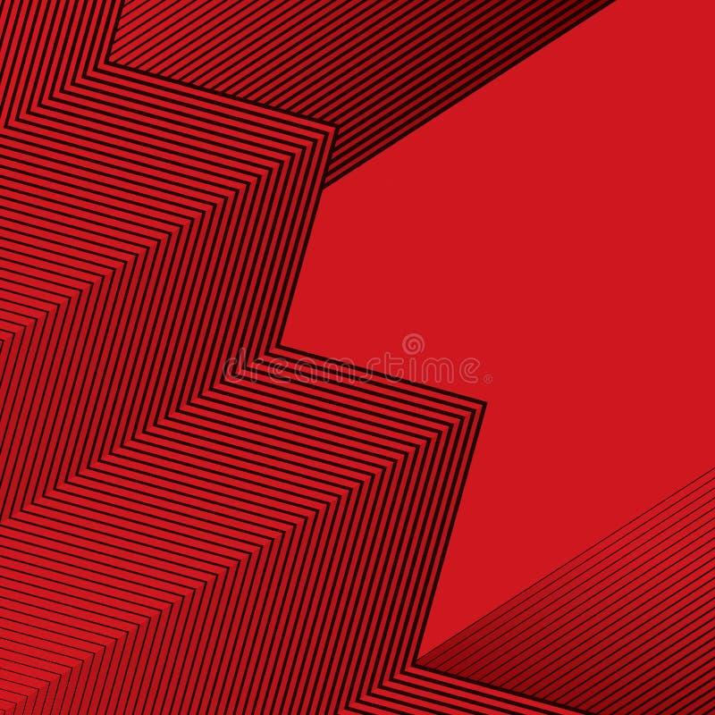 Texture abstraite noire et rouge, calibre abstrait de fond illustration stock