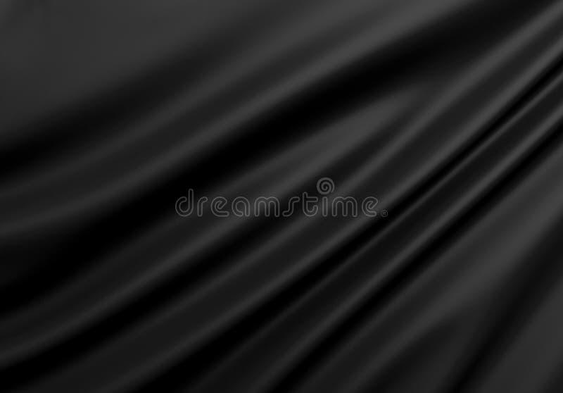 Texture abstraite Soie noire illustration libre de droits
