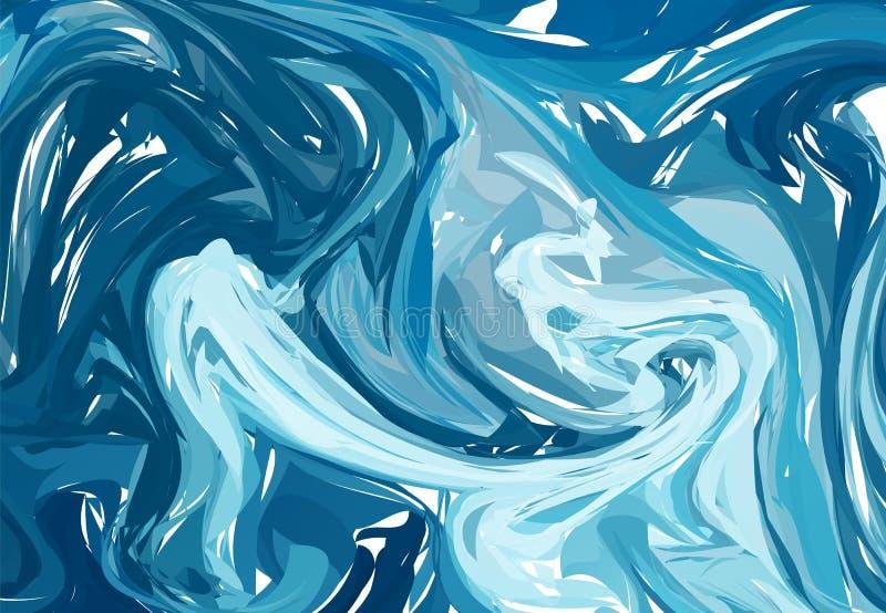 Texture acrylique étonnante Fond fait main unique abstrait Illustration de vecteur illustration de vecteur
