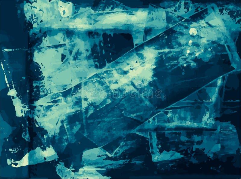Texture affligée d'Art Style Editable Vintage Style de fond grunge de vecteur rétro Grand contexte d'élément de conception pour illustration stock