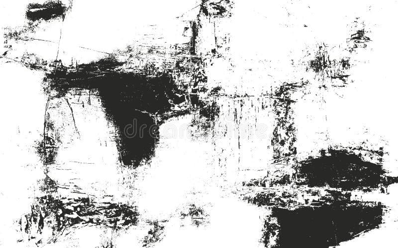 Texture affligée de recouvrement de métal de la poussière, béton épluché criqué illustration de vecteur