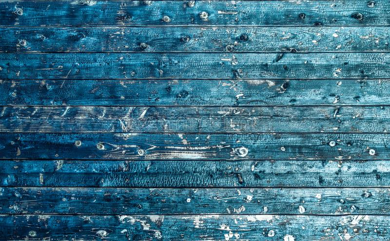 Texture of aged wood use as natural background. Electric blue. royalty free stock image