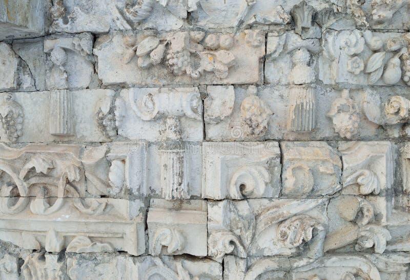 Texture of ancient stones stock photos