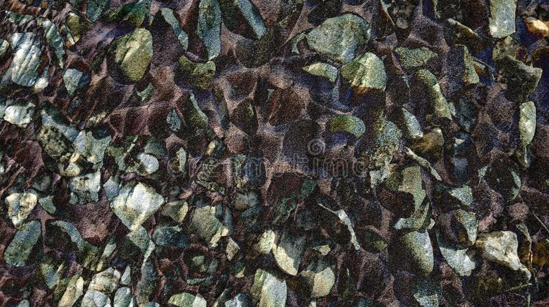 Texture animée de pierre de style de pierre de résumé avec le papier peint de fond photographie stock libre de droits