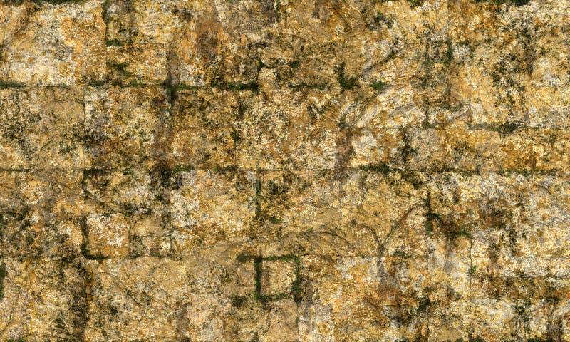 Texture approximative jaune de mur en pierre photographie stock
