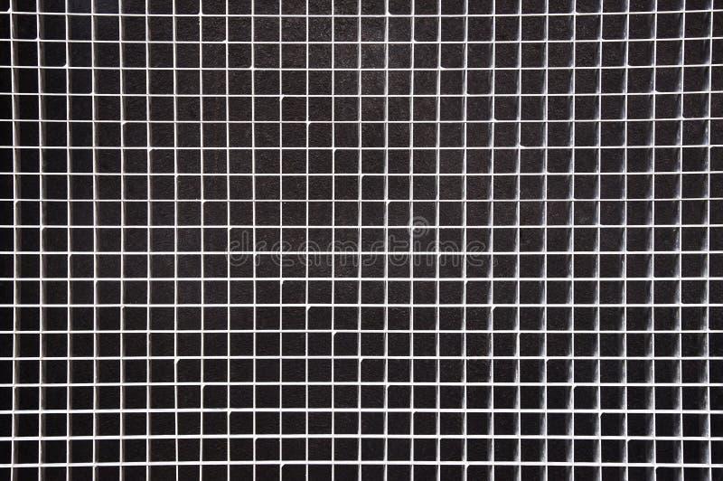 Texture argentée de fond de grille en métal photos libres de droits