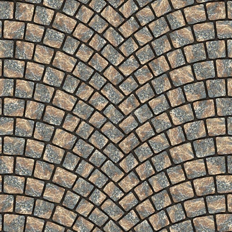 Texture arquée 015 de trottoir de pavé rond illustration stock