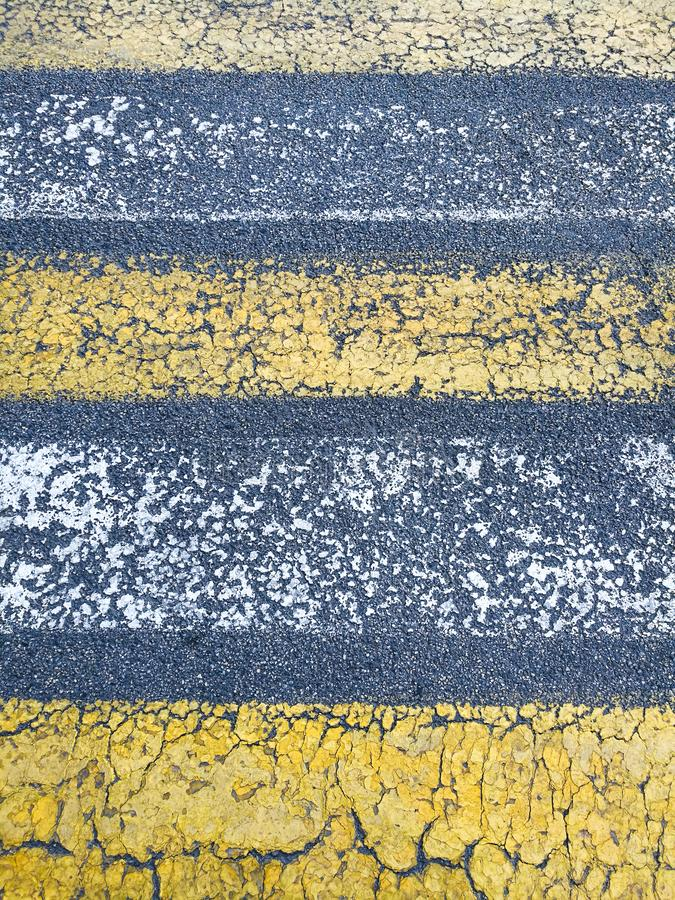 Texture, asphalt background with marked pedestrian crossing stock images