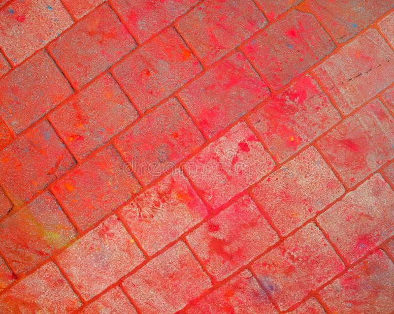 The texture of the asphalt. Multi-colored stains, splashes and traces of paint dry. stock photo