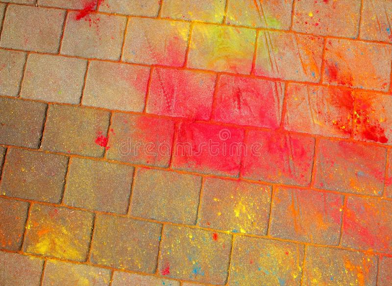 The texture of the asphalt. Multi-colored stains, splashes and traces of paint dry. royalty free stock photos