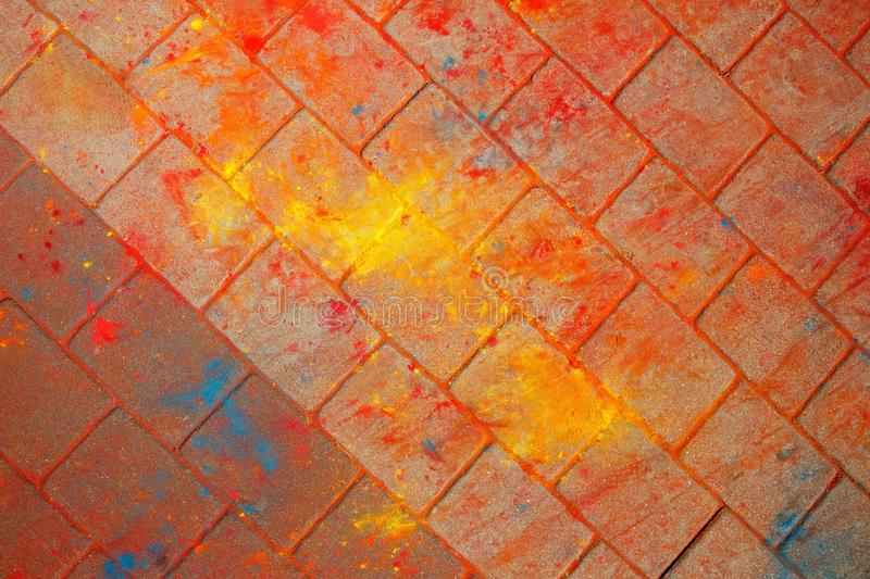 The texture of the asphalt. Multi-colored stains, splashes and traces of paint dry. stock photography