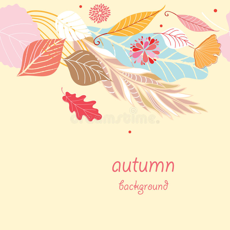 Texture Autumn stock illustration