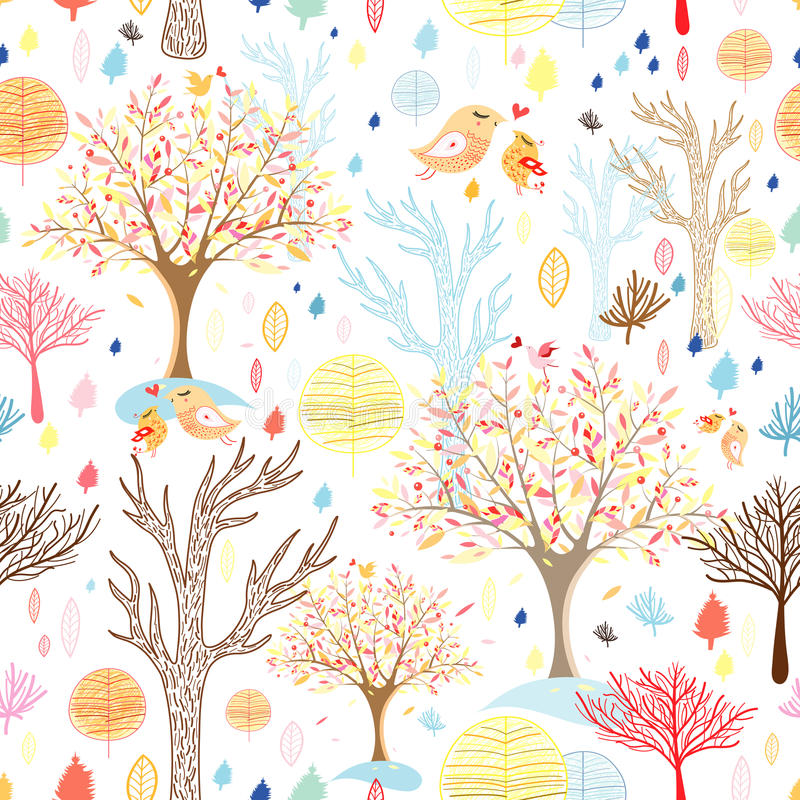 Texture autumn forest stock illustration