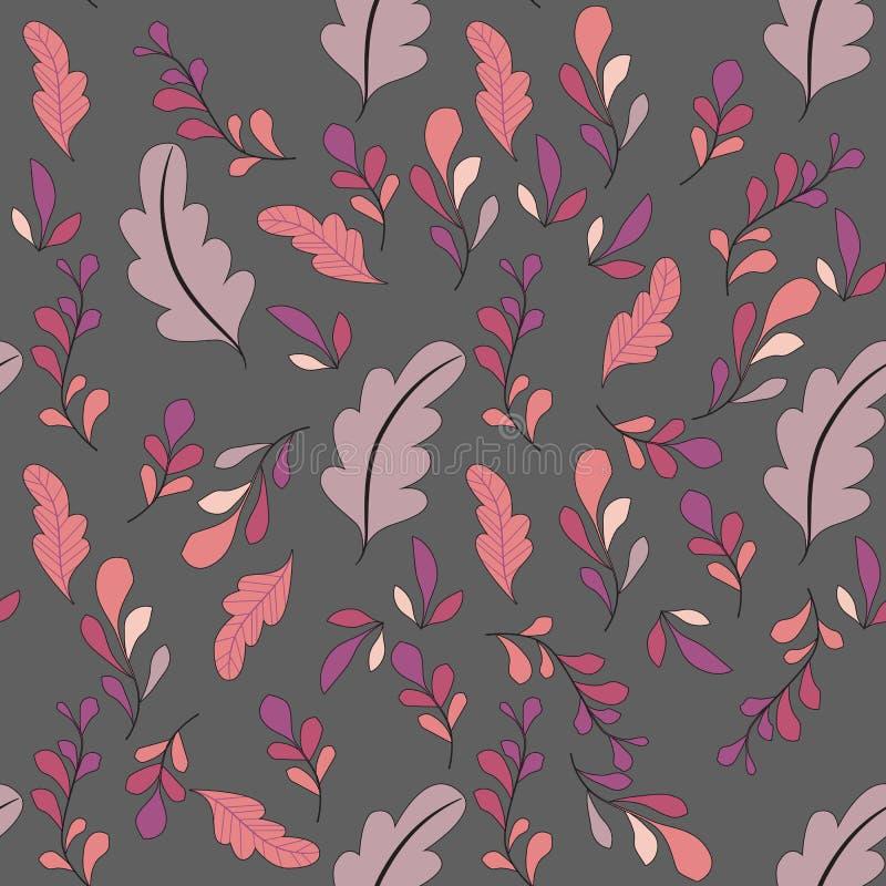 Texture avec des fleurs et des plantes Configuration 08 Modèle de fleurs original image stock
