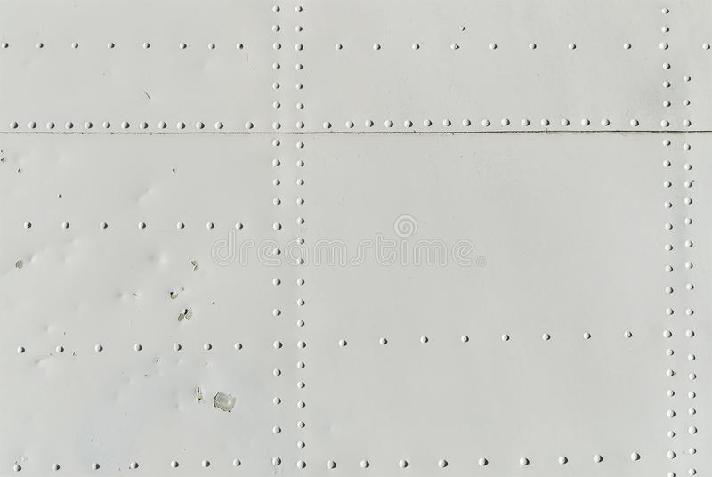 Texture of aviation rivets stock image