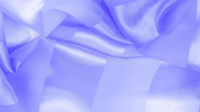Texture, background, blue silk striped fabric with a metallic sheen. If you have a bad mood, this fabric will lift it to. Unprecedented heights. Your project stock photos