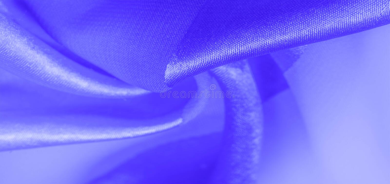 Texture, background, blue silk striped fabric with a metallic sheen. If you have a bad mood, this fabric will lift it to. Unprecedented heights. Your project royalty free stock photo