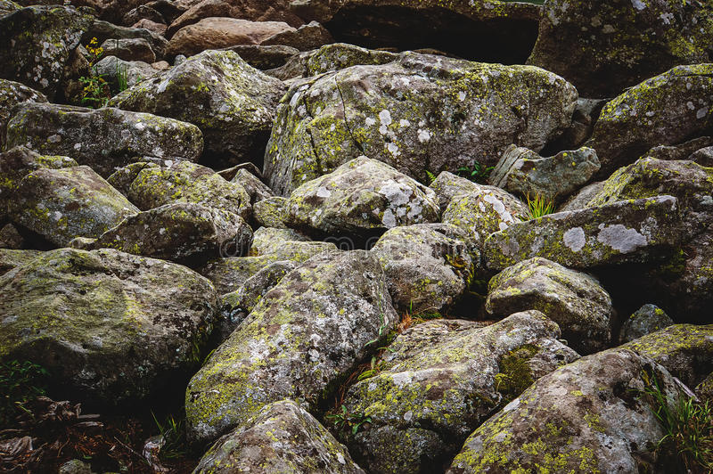 Texture background consisting of large. And small sea stones royalty free stock photos