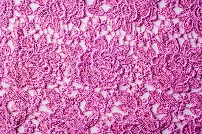 texture, background fabric pink lace stock image
