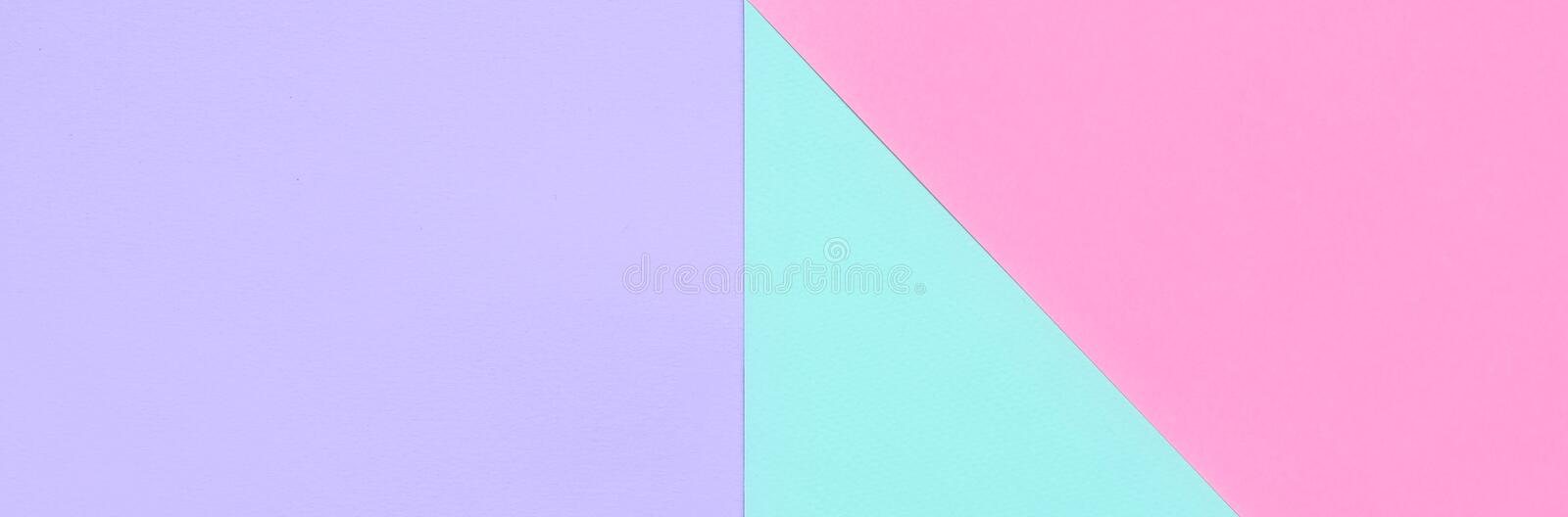 Texture background of fashion pastel colors. Pink, violet and blue geometric pattern papers. minimal abstract vector illustration