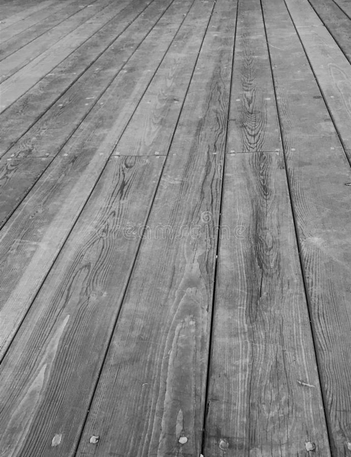 Wooden floor boards of the stage in the Park royalty free stock images