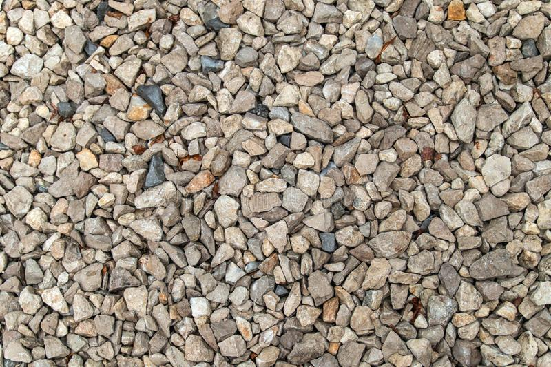 Texture background of light gravel and stones stock photography