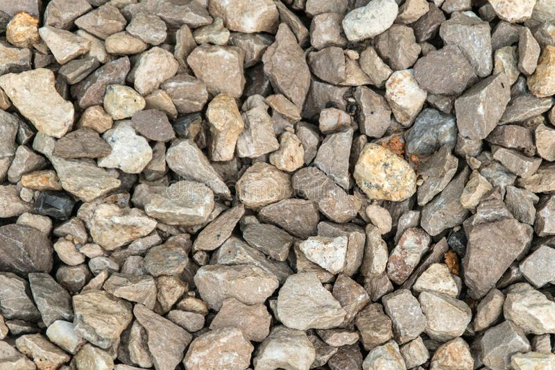 Texture background of light gravel and stones royalty free stock image