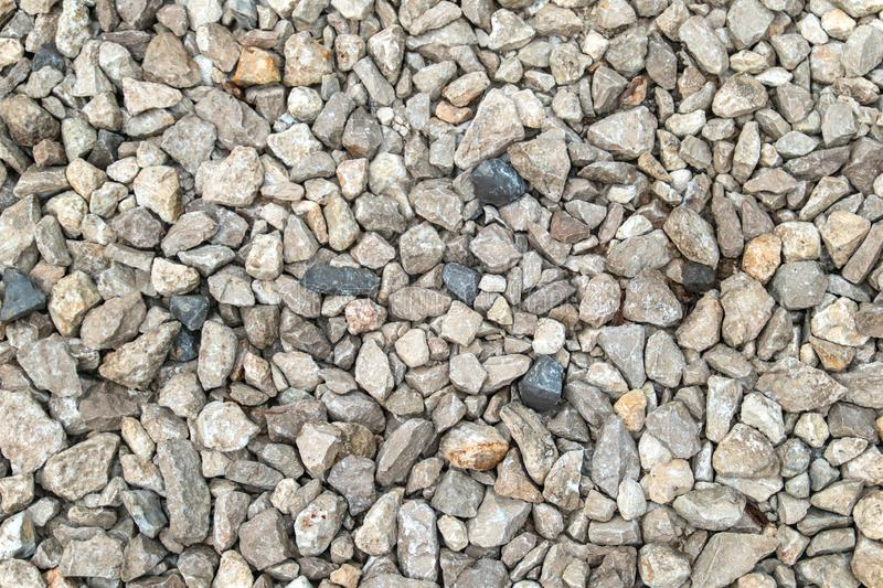 Texture background of light gravel and stones royalty free stock photos