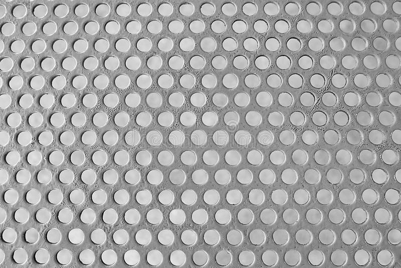 Texture Background of Matalic Silver Perforated Grid. Fabric Texture, Close Up of Matalic Brown Perforated Grid to Created A Textured Background stock images