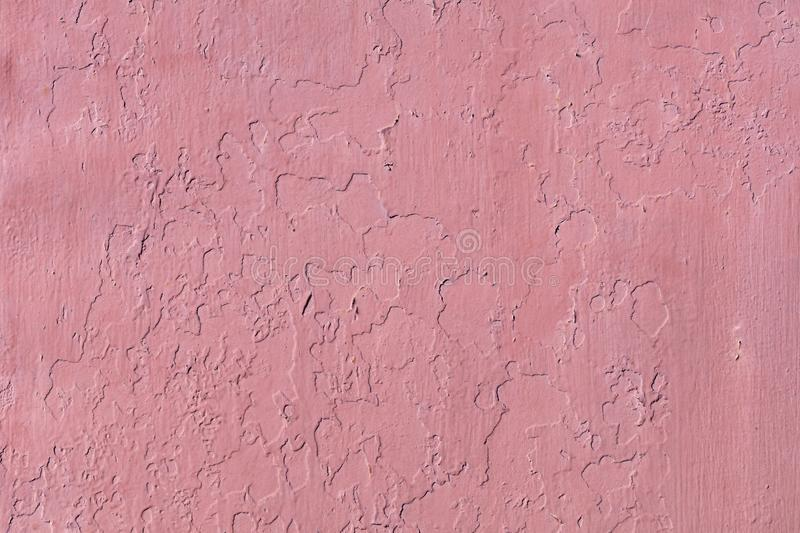 Texture and background of the old wall, which is painted with red paint stock photography