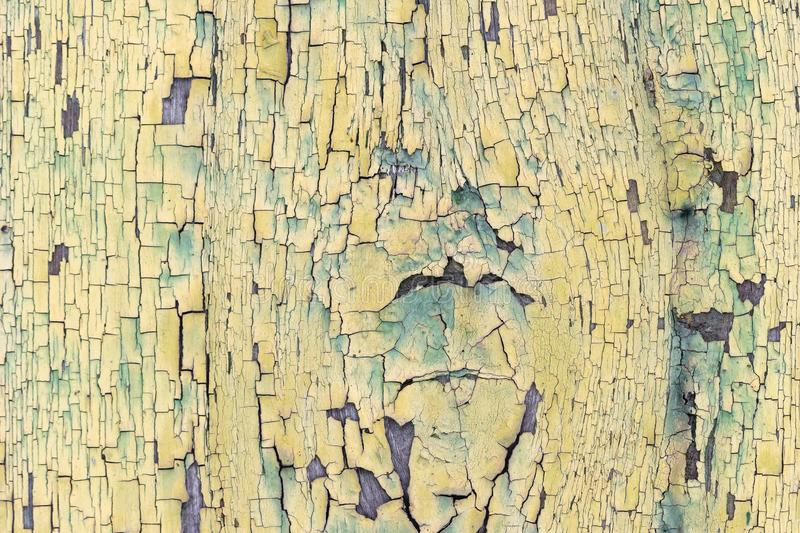 Texture, background, old wood coating with cracked paint stock photography
