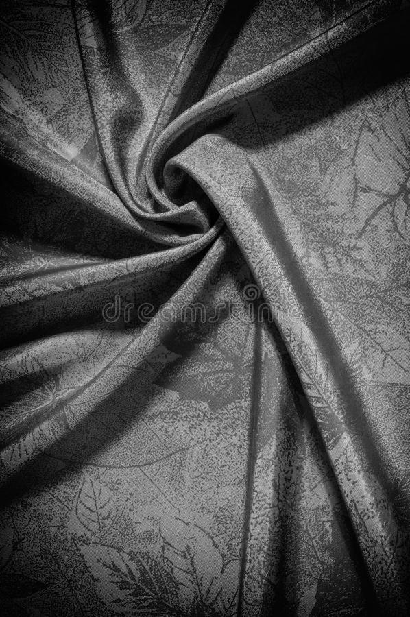 Texture, background, pattern. cloth silk black white. Look at th. E world through a quartz crystal with this black and white prismatic silk chiffon. Ultra soft stock photos