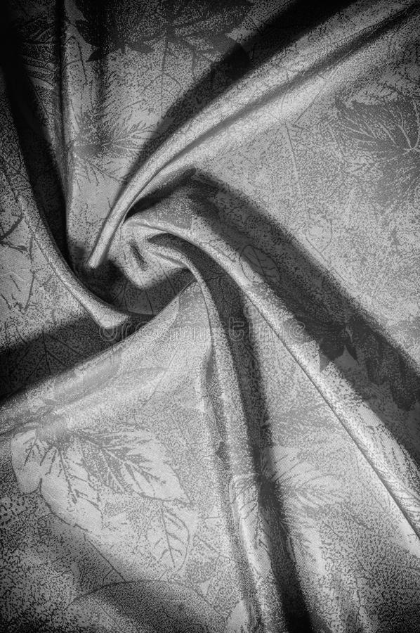 Texture, background, pattern. cloth silk black white. Look at th. E world through a quartz crystal with this black and white prismatic silk chiffon. Ultra soft stock photography