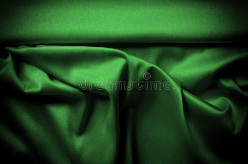 Texture, background, pattern. Fabric silk is dark green. Express. Ing harmony, global appeal, The combination of green and black, color purple contains passion vector illustration