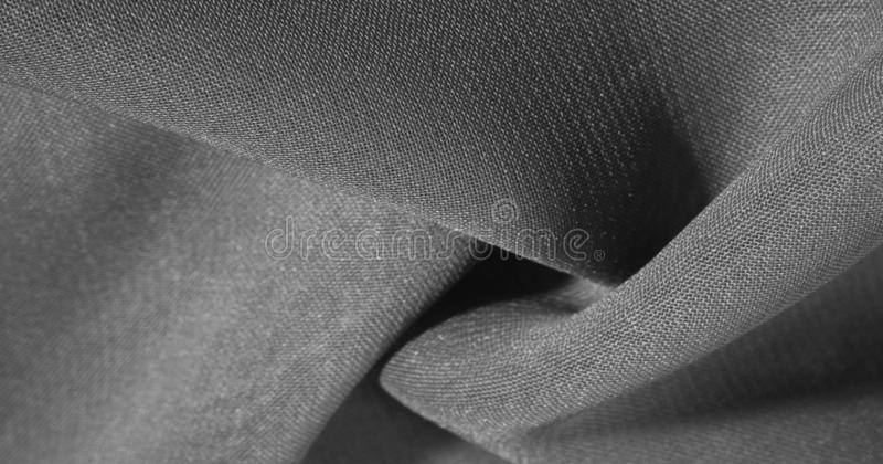 Texture, background, pattern, gray black Silk Fabric This very lightweight synthetic silk fabric has a nice sheen. Perfect for. Adding elegance to your internet royalty free stock image