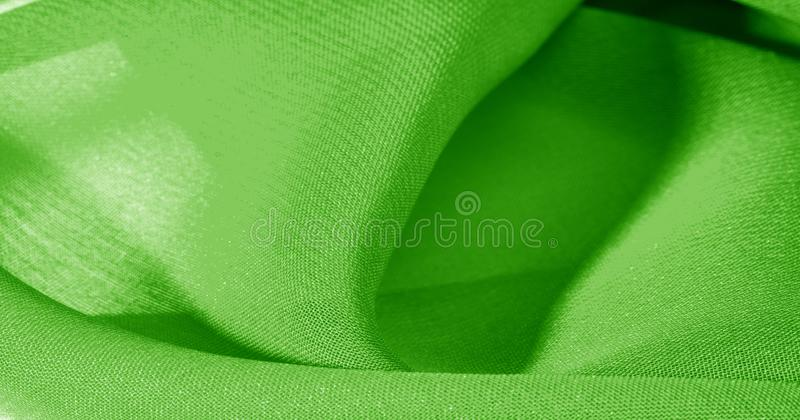 Texture, background, pattern, green salad, silk fabric This very lightweight fabric made of artificial silk has a pleasant sheen. Ideal for adding elegance to stock images