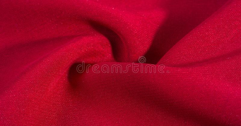 Texture, background, pattern, Red Crimson Silk Fabric This very lightweight rayon fabric has a nice sheen. Perfect for adding. Elegance to your internet decor royalty free stock photo