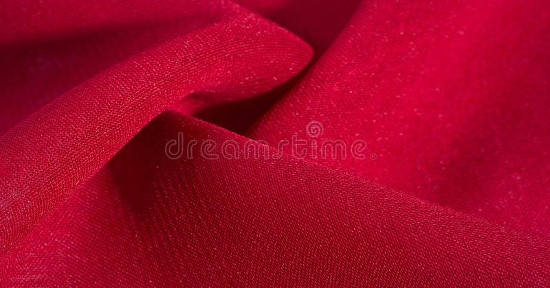 Texture, background, pattern, Red Crimson Silk Fabric This very lightweight rayon fabric has a nice sheen. Perfect for adding. Elegance to your internet decor royalty free stock images