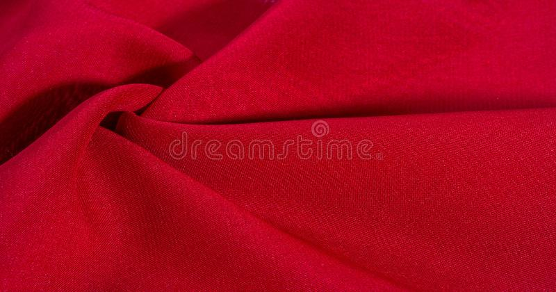 Texture, background, pattern, Red Crimson Silk Fabric This very lightweight rayon fabric has a nice sheen. Perfect for adding. Elegance to your internet decor stock photos