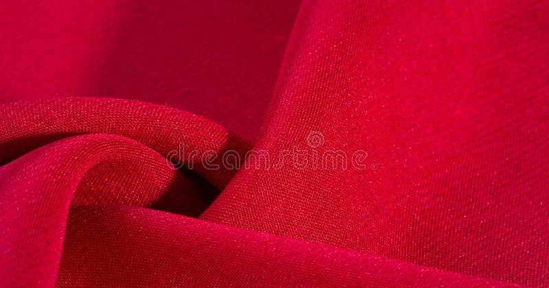 Texture, background, pattern, Red Crimson Silk Fabric This very lightweight rayon fabric has a nice sheen. Perfect for adding. Elegance to your internet decor royalty free stock image