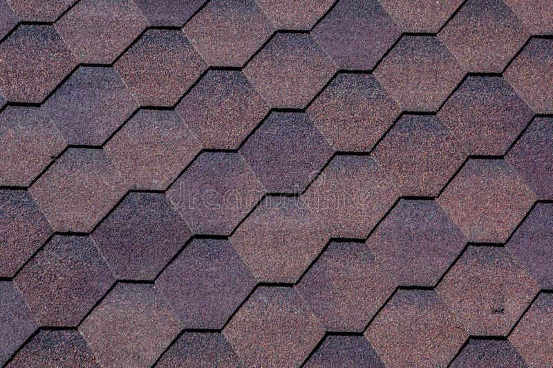 Texture, background, pattern. roofing tiles. flexible, soft, bituminous, composite royalty free stock photography