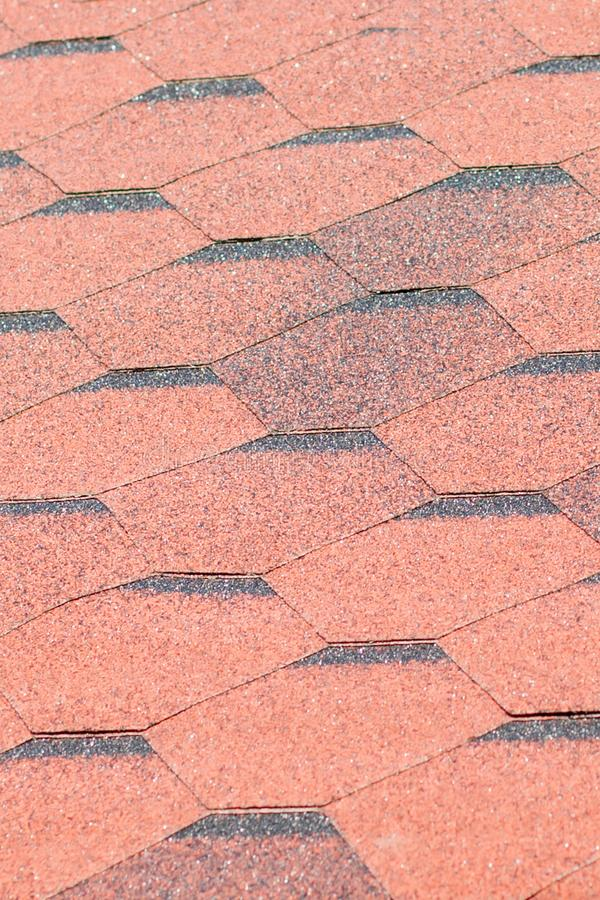 Texture, background, pattern. roofing tiles. flexible, soft, bituminous, composite stock image